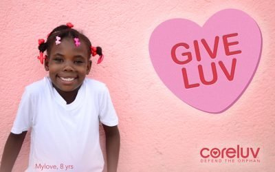 Meet Mylove. One of Coreluv's very first orphans.